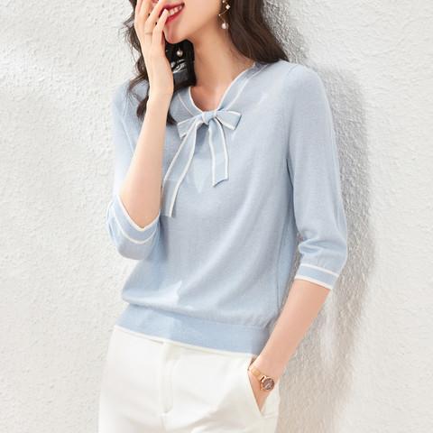 OSA 欧莎 S120B16032400A 女士七分袖针织T恤