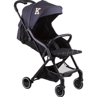 kiwy婴儿推车 轻便伞车 可坐可躺折叠便携避震婴儿车 Eina 雅典黑