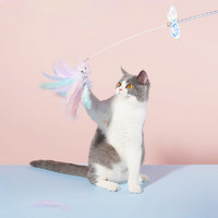 zeze 猫玩具 铃铛羽毛逗猫棒 70cm