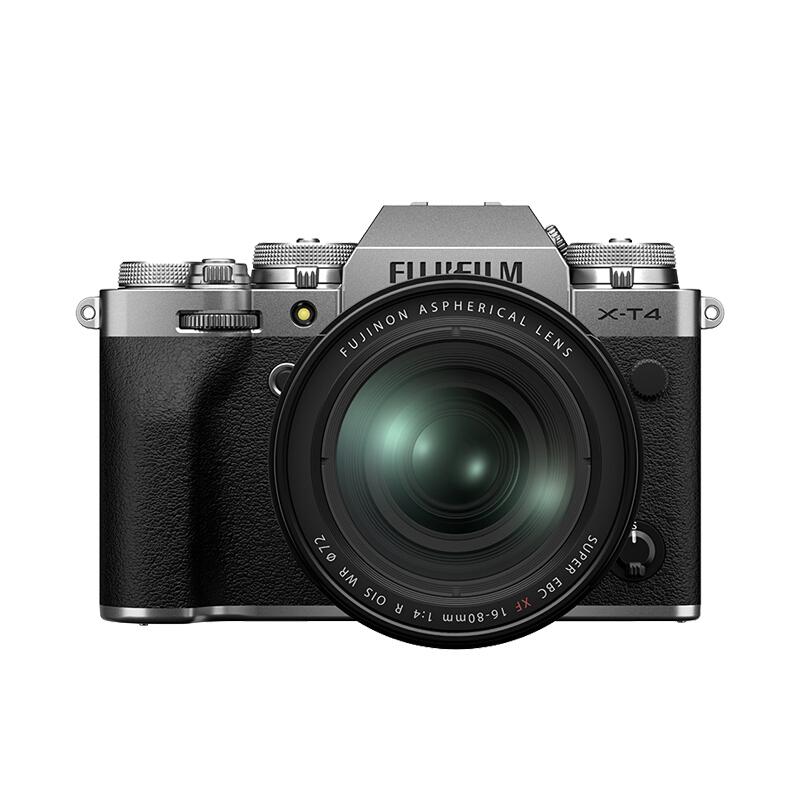 FUJIFILM 富士 X-T4 APS-C画幅 微单相机 银色 XF 16-80mm F4 R OIS WR 变焦镜头 单头套机