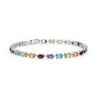 Blue Nile 55615 椭圆形多色宝石手链