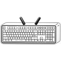 iKBC B站小电视 108键 无线双模机械键盘 白色 Cherry红轴 无光