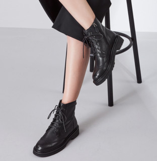 Cbanner 千百度 女士牛皮短筒马丁靴 A20524124