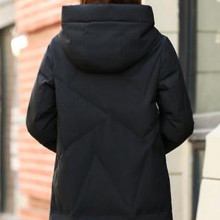 YALU 雅鹿 女士中长款羽绒服 2117 黑色 L