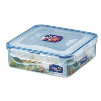 乐扣乐扣 饭盒塑料保鲜盒盒多规格密封盒小储物盒食品盒水果盒 带分隔1600ml正方形一个