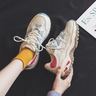 新品运动休闲鞋透气网面跑步鞋复古潮流女鞋老爹鞋