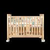 贝影随行 BB01SS 婴儿床+床垫 升级款 原木色