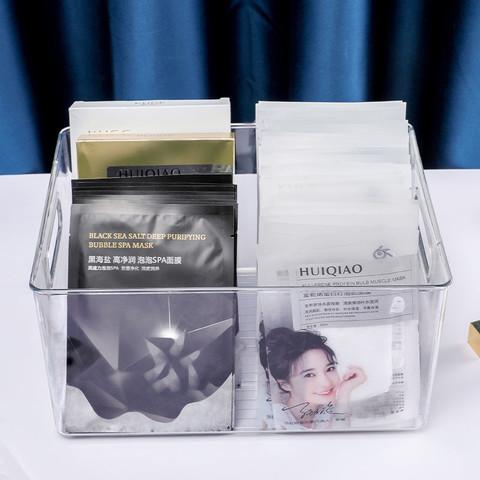 桌面书本收纳盒儿童绘本牛津树学生放整理箱架子透明化妆品储物盒