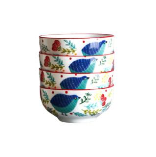hommy 佳佰 花鸟系列 饭碗 4.5英寸 4个装