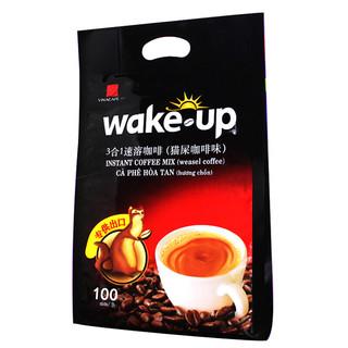 Wake-up 3合1速溶咖啡 猫屎咖啡味