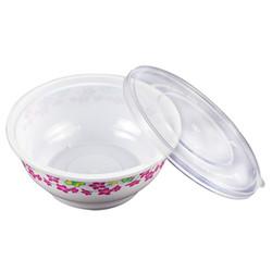 一次性白色圆形塑料碗餐具