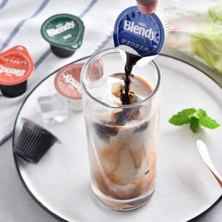 AGF blendy 浓浆浓缩 胶囊咖啡 焦糖口味