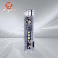 RovyVon锐孚 A7x蓝色荧光迷你钥匙灯UV便携可充电强光EDC小手电筒