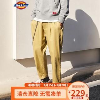 Dickies工装裤 多口袋褶皱设计宽松长裤 工装裤男DK008889 卡其色 28