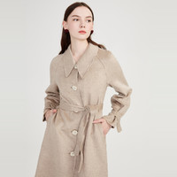 LILY Lily 丽丽 120429F1910704 女士羊毛混纺大衣