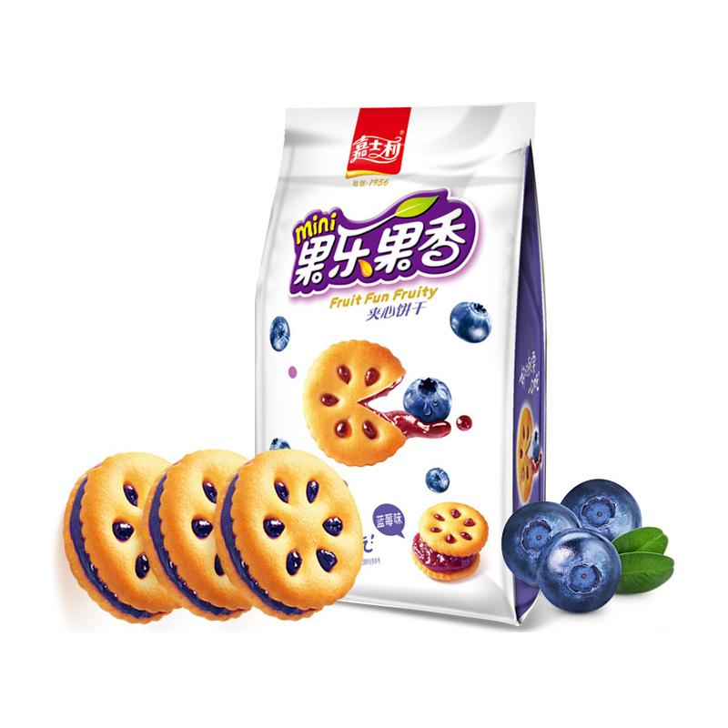 嘉士利 果乐果香 夹心饼干 蓝莓味