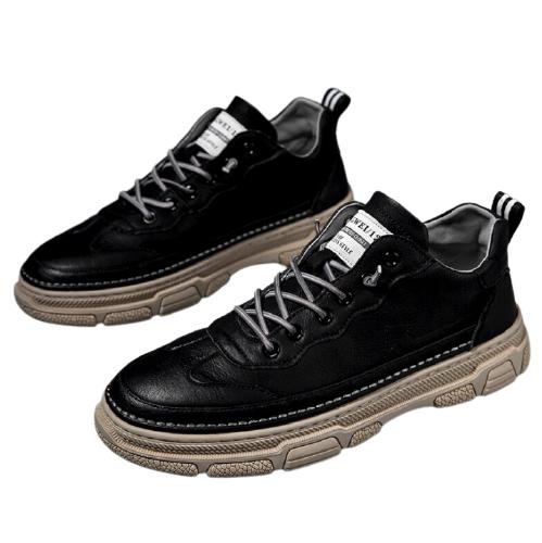 AOKANG 奥康 男士皮面休闲鞋 80200217 黑色 39