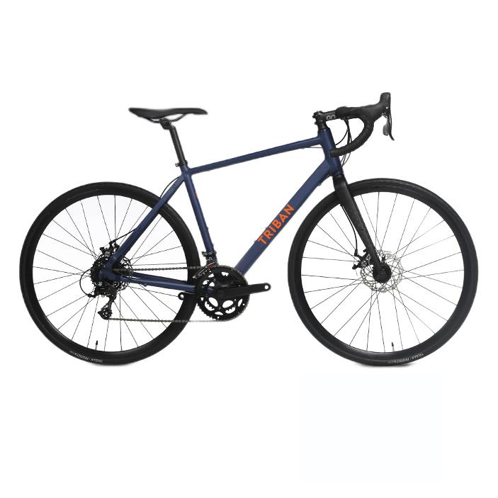DECATHLON 迪卡侬 RC120 DISC 公路自行车 2966507 平把 蓝色 XS