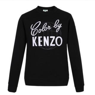 KENZO 凯卓 男士圆领长袖卫衣 F86 5SW302 4MD 99 黑色 M
