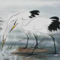 朵云轩 林风眠 鹭鸶 中国画装饰画非遗收藏馈赠家居