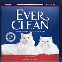 超级萌宠节、京东PLUS会员:Ever Clean 铂钻 活性炭除臭猫砂 红标 50磅