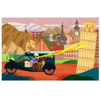 艺术 Decue Wu 插画时尚作品 《旅行》23×35.5cm