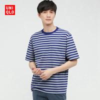 优衣库 男装 条纹T恤(短袖) 433032 UNIQLO