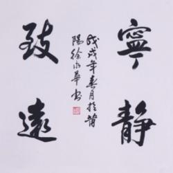 尚得堂 宁静致远书法作品名家手写真迹 装饰画