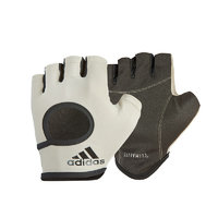 adidas 阿迪达斯 训练系列 女子半指手套 ADGB-12643 石灰 S