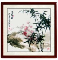 尚得堂 手绘国画竹子挂画现代客厅沙发背景墙壁画装饰画