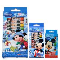 Disney 迪士尼 DM6475 米奇款 12色六角油画棒 蓝色