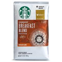 STARBUCKS 星巴克 中度烘焙 早餐综合咖啡豆 340g