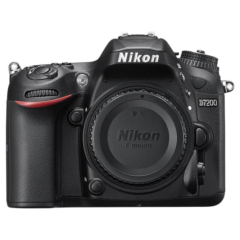 Nikon 尼康 D7200 APS-C画幅 数码单反相机 黑色 单机身