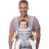 ergobaby Omni全階段系列 嬰兒背帶 透氣款 灰色彩點