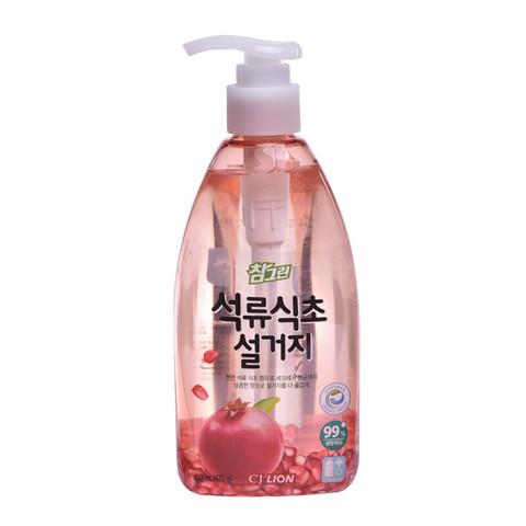 韩国狮王 常绿秀手石榴食醋洗涤剂470g 婴儿奶瓶清洁剂 厨具果蔬洗洁精 护肤不伤手(韩国进口)