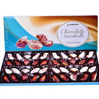 京东PLUS会员 : 比利时进口 可尼斯CorNiche贝壳形夹心巧克力礼盒 生日礼物零食大礼包390g