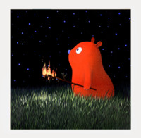 buybuyART 买买艺术 张占占《星夜》艺术版画 北欧装饰画50*50cm-黑色框
