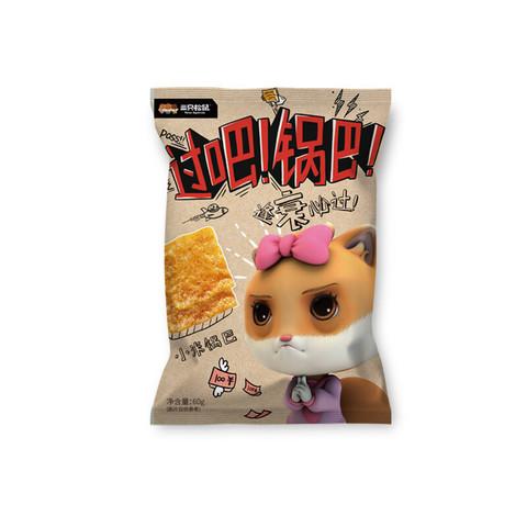 Three Squirrels 三只松鼠 小米锅巴60g麻辣休闲零食办公室膨化食品