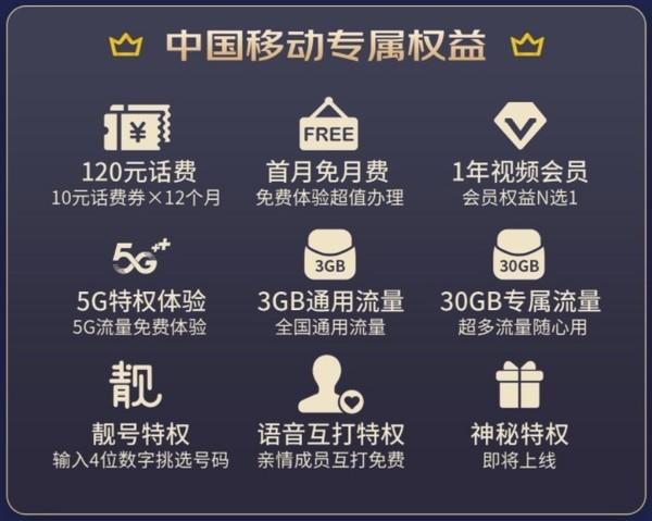 中国移动 京东PLUS会员联名校园卡 3G通用+30G定向