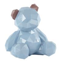 多边形小熊摆件小号 宝贝熊 贾晓鸥作品摩登马戏团 粉蓝色 小号