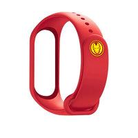 简苏 小米3/4代智能手环硅胶表带 钢铁侠 红色