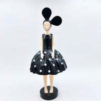 构得《然ran》艺术限量版雕塑 客厅装饰品树脂摆件 黑白波点