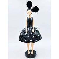 艺术品:构得《然ran》艺术限量版雕塑 客厅装饰品树脂摆件 黑白波点