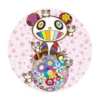墨斗鱼艺术 村上隆 熊猫樱花版画 日本直邮 手工实木框装裱