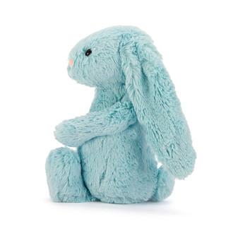 jELLYCAT 邦尼兔 害羞系列 BAS3AQ 害羞海蓝色邦尼兔毛绒玩具 青蓝色 18cm