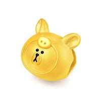 CHOW TAI FOOK 周大福 LINE FRIENDS系列 R22777 猪猪布朗熊足金转运珠 1.84g