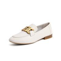 BeLLE 百丽 女士平跟单鞋 88011AA1 米白 34