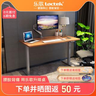 乐歌E2小户型经济款电动升降桌学习桌站立办公电脑台式桌升降书桌