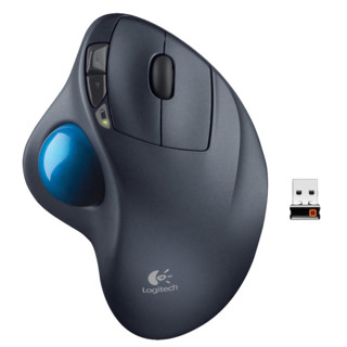 logitech 罗技 M570 2.4G蓝牙 无线轨迹球鼠标 黑色