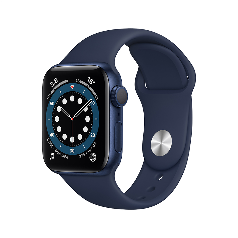 Apple 苹果 Watch Series 6 智能手表 40mm GPS版 蓝色铝金属表壳 蓝色橡胶表带 (GPS、血氧)